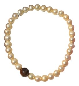 Other GENUINE TIGERS EYE FRESHWATER PEARL STRETCH BRACELET