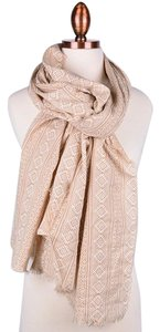 Fame Accessories Aztec Tribal Print Scarf - Beige