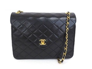 Chanel Quilted Lambskin Classic Flap Shoulder Bag