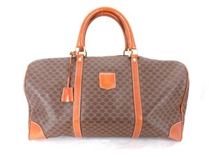 Céline Damier Duffle Travel Boston Brown Travel Bag