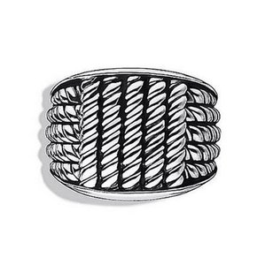 David Yurman Size 10, Strerling Silver, Maritime, Cable, Rope Ring
