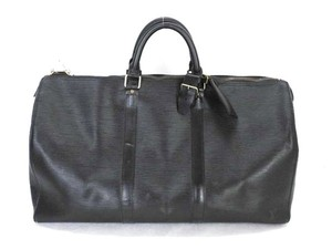 Louis Vuitton Duffle Duffel Black Travel Bag