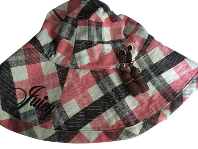 Item - Pink/Black/White Striped Linen Hat