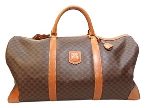 Céline Duffle Travel Luggage Brown Travel Bag
