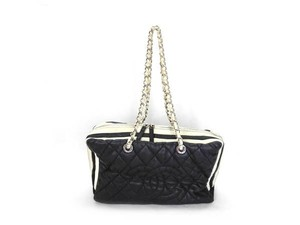 Chanel Keepall Chain Bicolor Shoulder Bag