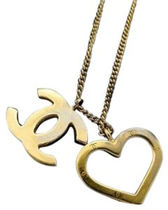 Chanel CC Heart Necklace 208138
