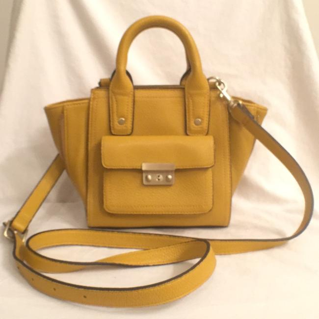 Item - Satchel Tote Nwot Yellow Faux Vegan Leather Shoulder Bag