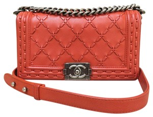 Chanel Calfskin Medium Boy Shoulder Bag