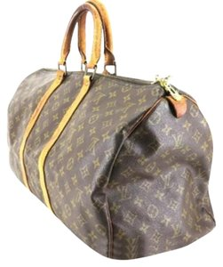 Louis Vuitton Keepall Duffle Travel Luggage Monogram Travel Bag