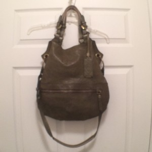 orYANY Tote Cross Body Hobo Leather Satchel in Dark Olive Green