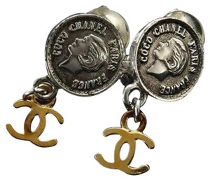 Chanel CC COIN TWO TONE EARRINGS 207503