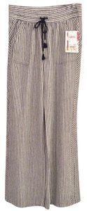 Jolt Wide Leg Pants Dark grey and white