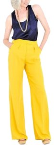 Max and Cleo Wide Leg Pants Yellow