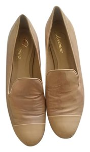 Delman Nude Patent Leather Flats