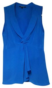 Nanette Lepore Sleeveless Side Zip Top blue