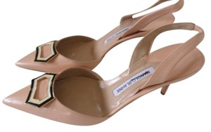 Manolo Blahnik Nude/ PEACH Pumps