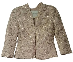 Boston Proper Tuille Sequined nude Jacket