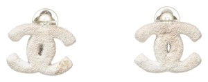 Chanel Chanel White CC 03A Earrings
