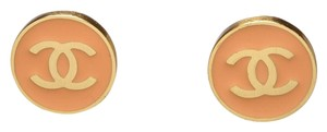 Chanel Chanel Orange Circle Gold CC 02P Earrings