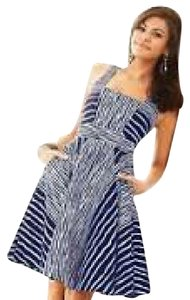 New York & Company short dress Blue and white A-line Striped on Tradesy