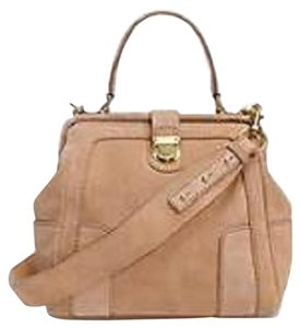 J.Crew Suede Satchel in Tan