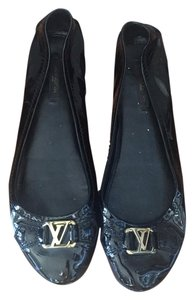 Louis Vuitton Ballet Ballet Lv Black Flats