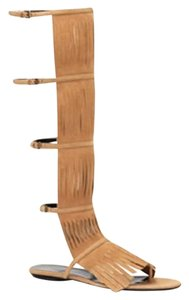 Gucci Becky Suede Knee High Brown 2754 Boots
