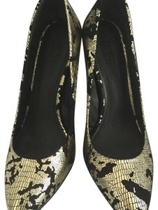 Colin Stuart cracked black & metallic Pumps