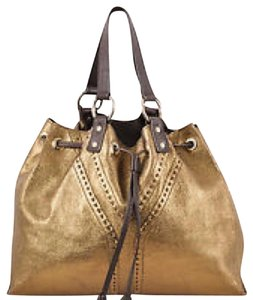 Saint Laurent Tote in Gold and Brown