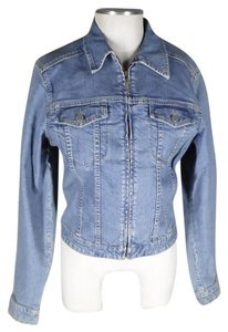 Tommy Bahama Zip Front Fall Denim blue Womens Jean Jacket