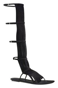 Gucci Becky Suede Knee High Black1000 Boots