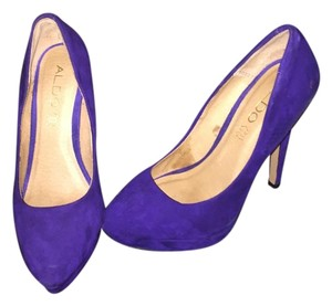ALDO Bright Suede Purple Pumps