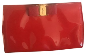 Salvatore Ferragamo Red Clutch