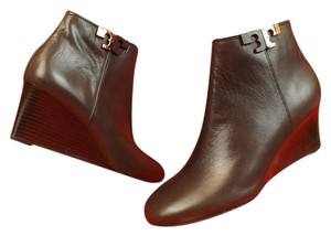 Tory Burch Wedge Ankle Coconut Brown Brown Coconut Boots
