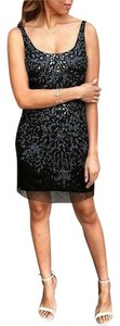 Adrianna Papell Beaded Mesh Sequin Dress
