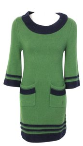 Kate Spade short dress Green 3/4 Sleeve Cable Knit Boat Neck Sweater on Tradesy