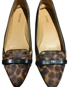 Nine West Leopard Saxiphone Black and brown Flats