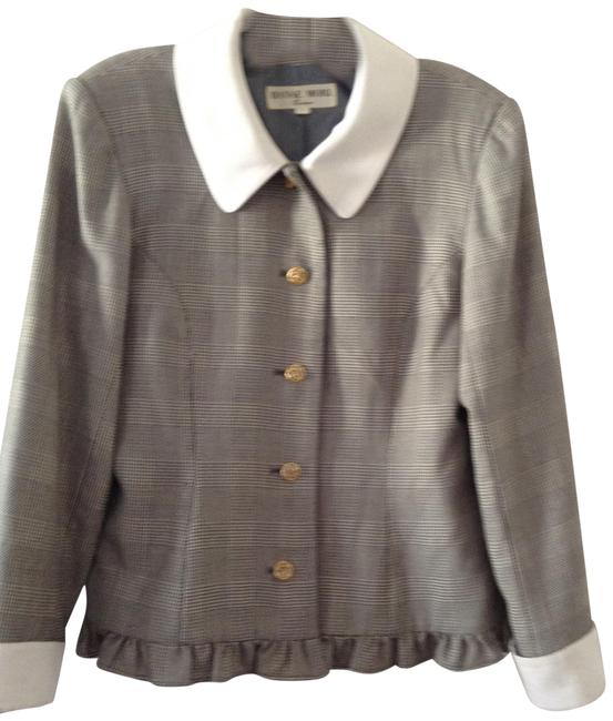 Item - Gray White Made In Japan Professional Suit Jacket Size 6 (S)