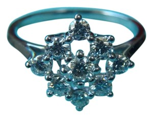 Tiffany & Co. PLATINUM DIAMOND CLUSTER COCKTAIL RING size 7