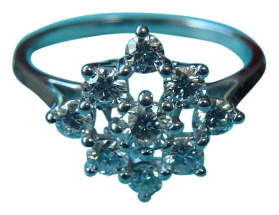 1396fc31a Tiffany & Co. PLATINUM DIAMOND CLUSTER COCKTAIL RING size 7 Image 0 ...