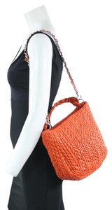 Suarez Orange Leather Shoulder Bag