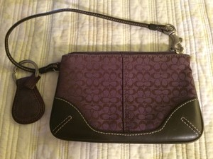 New Coach Wristlet Plum