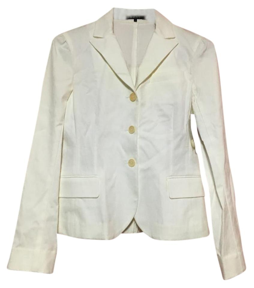 3df8e931 Theory White New Women In Stretch Canvas Jacket Size 8 (M) - Tradesy