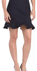 Tibi Skirt Navy blue pinstriped