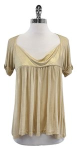 Diane von Furstenberg Gold Short Sleeve Top
