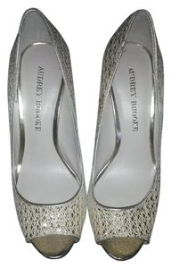 Audrey Brooke Date Night Formal Prom Night Out Party Silver Pumps