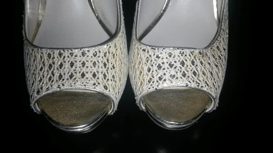 Audrey Brooke Date Night Formal Prom Night Out Party Silver Pumps Image 1