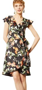 Karen Walker short dress Black floral on Tradesy