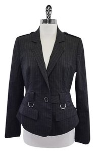 Burberry Grey Pinstripe Wool Jacket