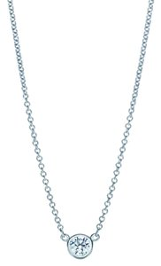 Tiffany & Co. Elsa peretti pendant platinum with round brilliant